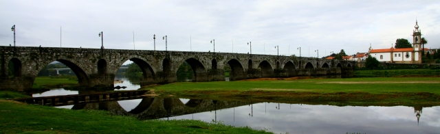 The bridge which gives Ponte de Lima its name. Parts of the bridge date back to Roman times.