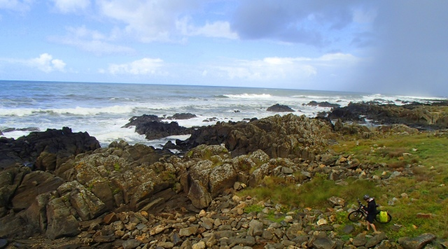 The rocky coast outside of Viana do Castelo